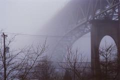 (elias.and.theresa.carlson) Tags: seattle mist film fog analog 35mm aurorabridge leicaiii kodakultramax400 leitzelmar5cm35