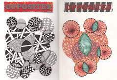 Sketchbook Challenge February 2011 (Amaryllis Creations) Tags: sketchbook artjournal zentangle feb487