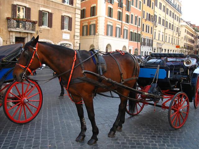 ローマの馬車のフリー写真素材