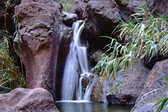 Waterfall in Masca Gorge