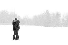Whiteout (Mikenessmonster) Tags: winter white snow engagement nikon couple shoot skating skate whiteout 2470 d90