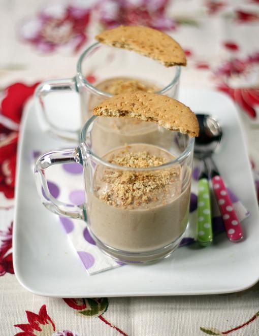 dolcetto di ricotta, caffé e biscotti digestive