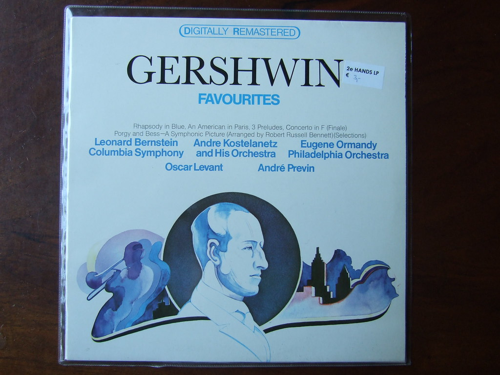 Gershwin - Favourites - Rhapsody in Blue, An American in Paris, 3 Preludes, Concerto in F(finale), Porgy & Bess, A Symphonic Picture, (Robert Russell Bennett) - Andre Previn & Oscar Levant Piano, Colu
