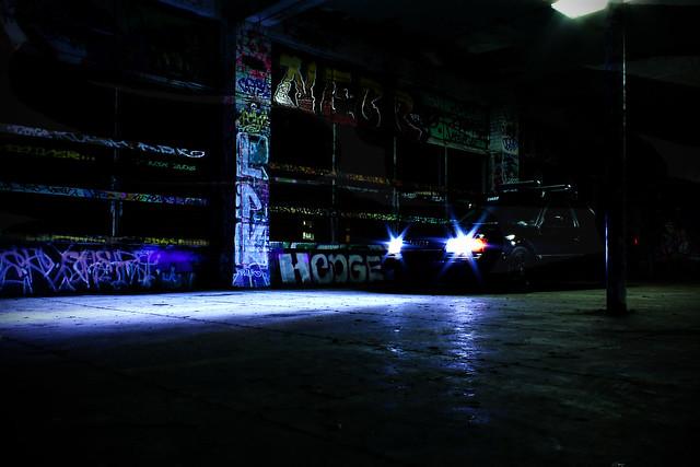 car lights automobile grafitti garage tacoma audi s4