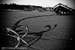 The Shadows and Sand build my Anchor.. ( AnA oMeLeTe ) Tags: shadow portugal faro boat blackwhite sand barco village areia sombra vila anchor algarve pesca fevereiro altura pretobranco ncora 2011 sigma2470mmf28 cacelavelha anaomelete canoneos400d