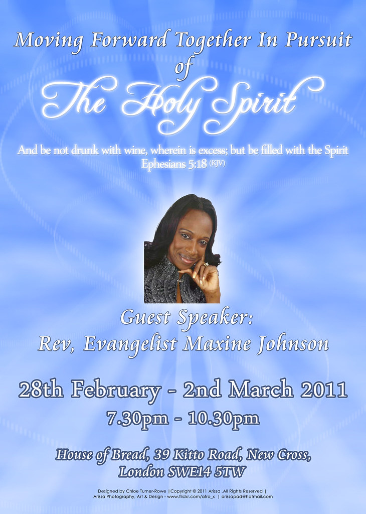 Flyer for Church Event