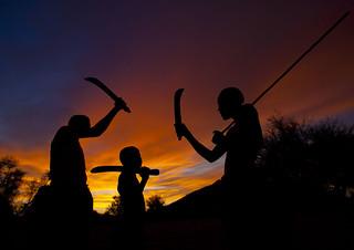 Mucubal at sunset - Angola