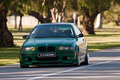 my car @ 400mm (p0tpie) Tags: green work bmw matte hamann e46 vinylwrap brombacher