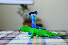 brotherss :) (mert & basak) Tags: fimo iguana denizat
