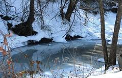 Melting Ice Hazard (modps) Tags: ice drown frozenlake frozenpond icemelt missouristatehighwaypatrol icehazard waterpatroldivision