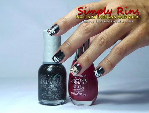 Valentines Nail Art - Betty Boop 01