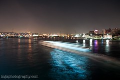 Istanbul at night (Inga Photography) Tags: water night turkey river movement istanbul ferrie