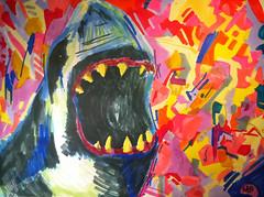 Highshark (Sqwrdl) Tags: sculpture color men art nature triangles dinner painting shark dance nice raw pattern seahorse sweden squares contemporary touch vivid drawings skulptur konst installation scream future blocks sverige naval malm frg instalation karlshamn fatta tavla teckning mlning martinolsson sacalobra gutti mleri smackthatass beautifulugly elmta rymdinperiets marvelloose