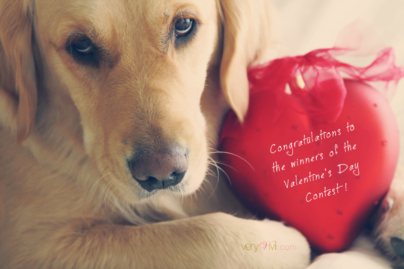 Congratulations to the 5 Winners of My Valentine's Day Contest!
