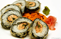 Dragon Eye (gtsomething) Tags: food sushi japanese pretty salmon tasty professional delicious japanesefood elegant plating deepfried dragoneye makiroll japaneseroll gtsomething