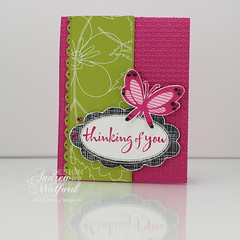 Butterfly Thanks Card (Andrea Walford) Tags: heroarts findjoy lauderdalefloral sweetthreadslabels