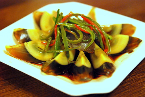 Preserved Century Egg with Green Pepper