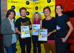 WeShareMusic - Dragan Ambrozic sa nagradjenim izvodjacima