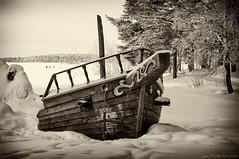 The Shipwreck (Wiking66) Tags: winter bw white snow black cold ice silver se ship pentax sweden shipwreck da pro february wreck copy vasco smörgåsbord gama luleå norrbotten udden efex k20d gültzauudden gültzau