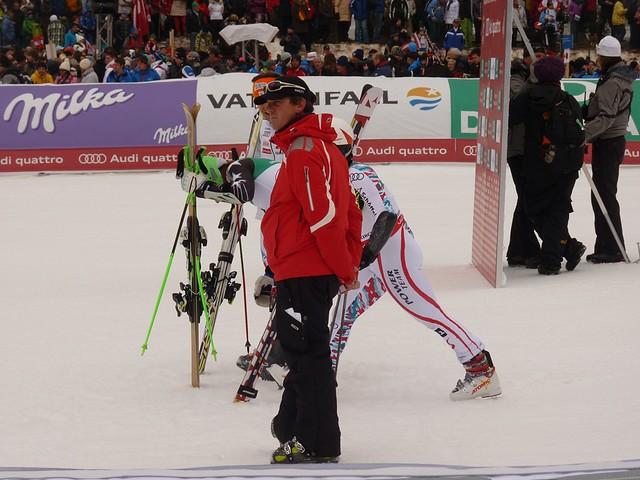 Die drei Gewinner des Riesenslalom 2011