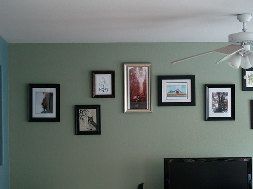 First half of artwork wall