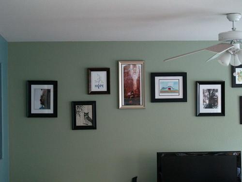 First half of artwork wall