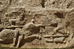 The equestrian relief of Hormizd II (r. 303-309) (Sepideh!) Tags: march persian iran  persia relief ii empire pars equestrian 2010 fars sepideh sasanian sassanid naqsherostam hormizd r303309