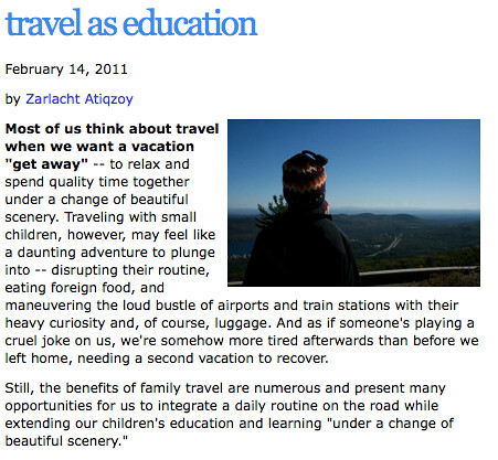 SS-travel as education