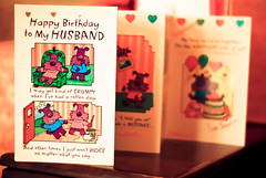 Happy Birthday to you, you live in a zoo, you smell like a monkey, and you look like one too. (Bhavna Saluja) Tags: cute love cake hearts fun candles dof bokeh creative husband card happybirthday wife ballons greeting cartoons