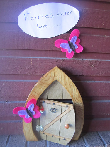 Fairy door outside Hannah's party