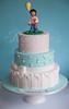 Reyna's Cake (Rouvelee's Creations) Tags: birthday girl cake chocolate balloon polymerclay teddybear mudcake caketopper shabbychic firstbirthdaycake rouvelee