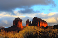 Illuminated (sedonakin) Tags: winter sunset shadow arizona orange sun sunlight southwest nature clouds canon landscape ilovenature golden rocks desert cloudy awesome sedona bluesky vista redrocks glowing afternoonsun magicmoments cathedralrock artland oakcreekcanyon thelightfantastic natureshots sunrisesandsunsets flickrexplore bestofnature anawesomeshot julielake amazingshotsofnature