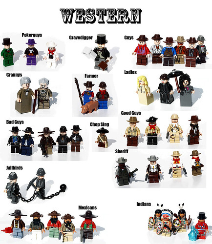 Custom minifig Western Poster