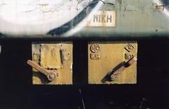 (dkilim) Tags: old abandoned graveyard kodak trains greece macedonia bronica wagons 160nc etr diavata νεκροταφείο βαγόνια τραίνων μακεδονία τρένων εγκαταλελειμμένα διαβατά