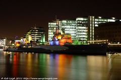 HMS Belfast at Night (Rob_Leigh) Tags: light london wwii hmsbelfast ww2 cruiser warship colouredlights royalnavyrob leighrobbolondonriver thamesnighteveninglow yahoo:yourpictures=londonbynight