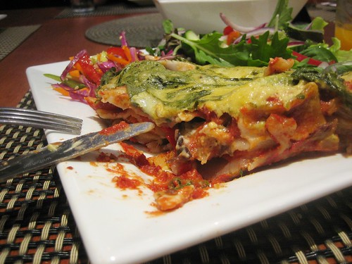 vegan lasagna at the swan valley cafe