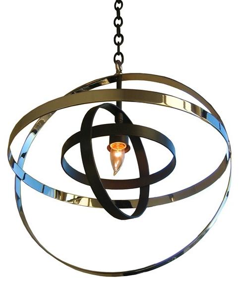 orb pendant - nickel and bronze $2125