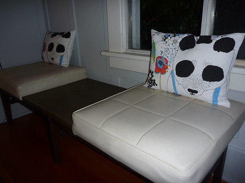 Pillows made from Marimekkio dishtowels