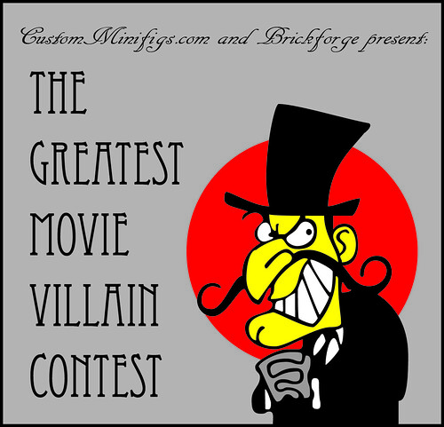 Custom minifig The Greatest Movie Villain Contest