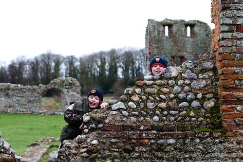Boys at Baconsthorpe Castle