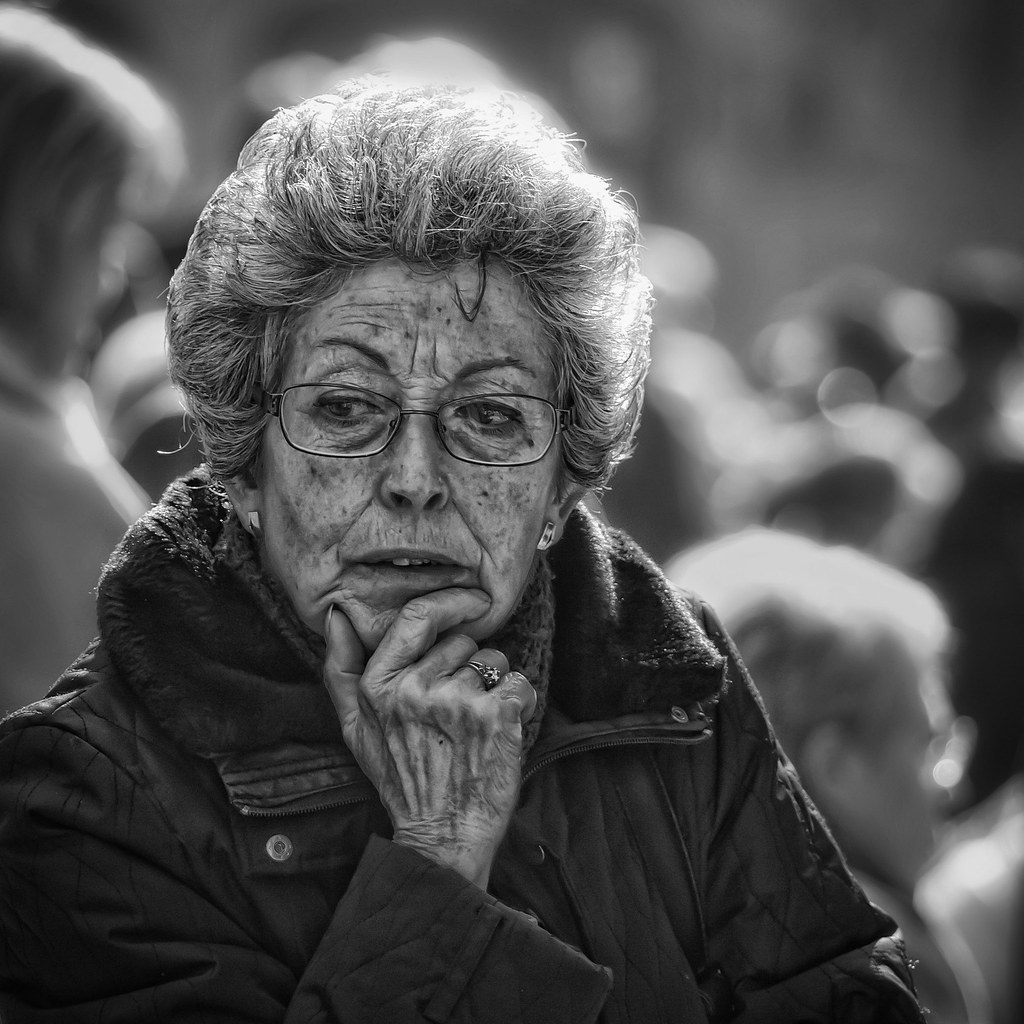 Old Woman Black and Gray