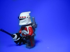 Commando (jestin pern) Tags: fiction red trooper star lego space science sniper shock fi wars clone sci commando