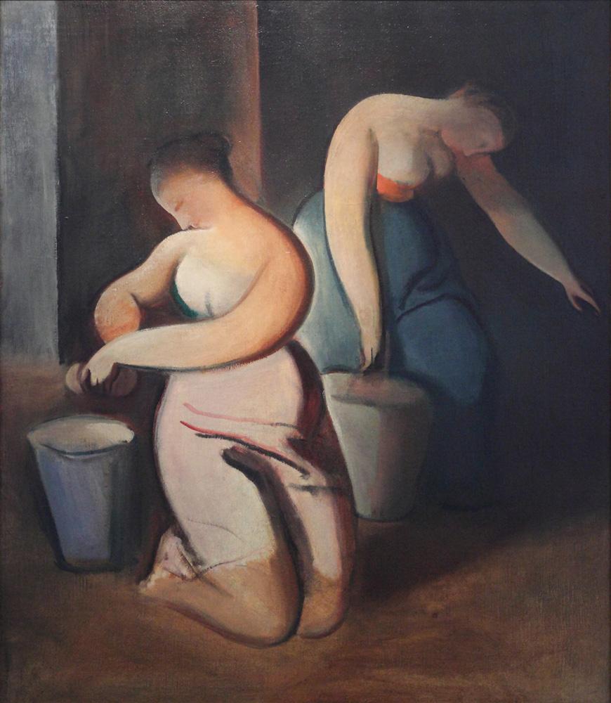 Rudolf Kremlička, Myčky [Washerwomen], 1919