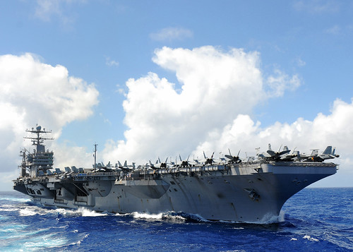 [フリー画像] 乗り物, 船・船舶, 軍用船, 航空母艦, エイブラハム・リンカーン (CVN-72), アメリカ海軍, 201103062300