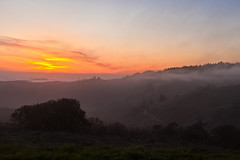 Sunset and Fog (dolphin2421) Tags: ocean california sunset sky mist skyline canon pacificocean santacruzmountains skylineblvd canonef2470mmf28lusm 2470l windyhill skylineboulevard canon2470l canoneos5dmkii canoneos5dmkll casr35