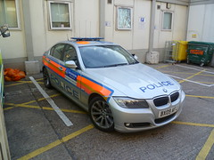 BX09AFJ BXZ Metropolitan Police BMW 325d Area Car at the Royal London Hospital Whitechapel