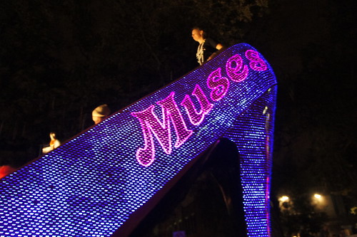 The giant lit Muses Shoe Float