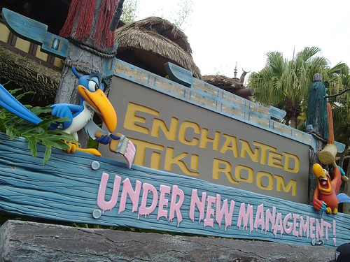 Tiki Room still roped off