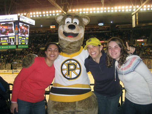 At the Providence Bruins game