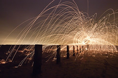 Spark Out (Mick h 51) Tags: longexposure ireland dublin beach wool strand steel bollards poolbeg dollymount clontarf irelanddublin gettyimagesirelandq1